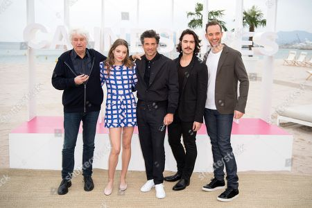 Stock Photo of Jean-Jacques Annaud, Kristine Froseth, Patrick Dempsey, Ben Schnetzer and Joel Dicker