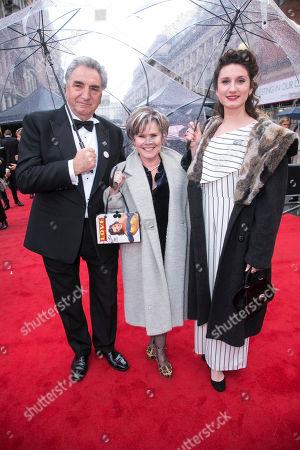 Jim Carter, Imelda Staunton and Bessie Carter