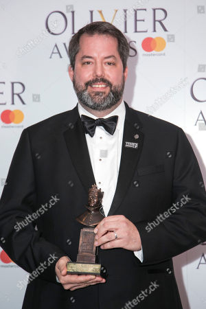 Stock Picture of Benjamin Pearcy accepts the award for Best Set Design on behalf of Bob Crowley
