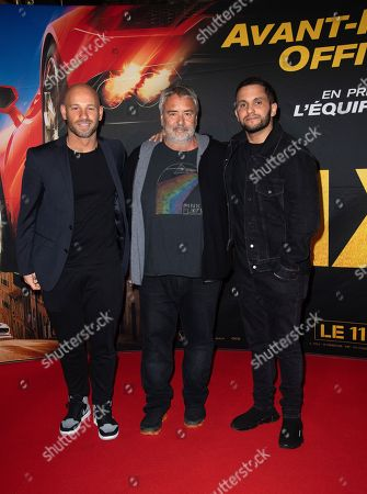 Luc Besson, Franck Gastambide and Malik Bentalha