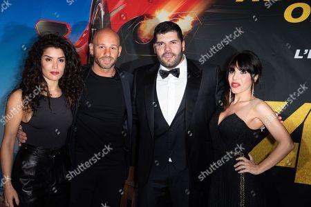 Sabrina Ouazani, Franck Gastambide, Salvatore Esposito and Paola Rossi