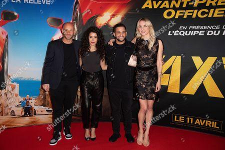 Franck Gastambide, Sabrina Ouazani, Malik Bentalha and Sand Van Roy