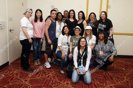 Zoie Palmer, Anna Silk with fans at Meet and Greet