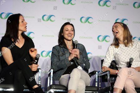 Anna Silk, Zoie Palmer and Rachel Skarsten