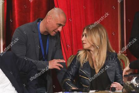 Stock Picture of Roberta Bruzzone with her husband Massimo Marino
