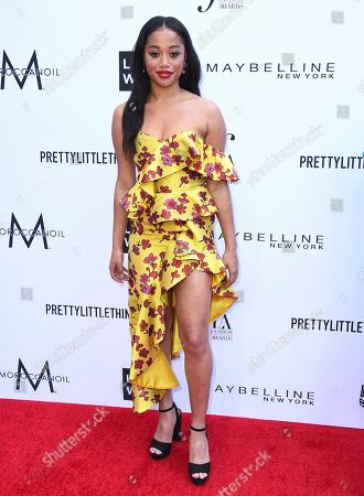 Salem Mitchell arrives at the Daily Front Row's Fashion Los Angeles Awards at the Beverly Hills Hotel, in Beverly Hills, Calif