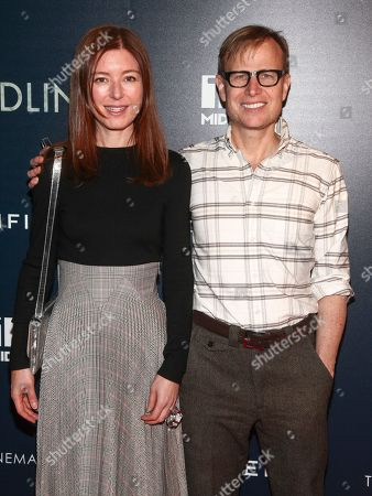 "Rose Dergan, Will Cotton. Rose Dergan, left, and Will Cotton, right, attend a special screening of ""Wilding"" at iPic Theater, in New York"