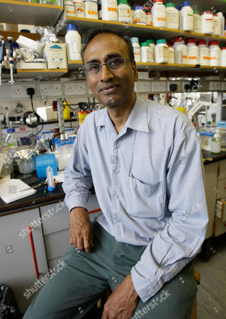 Joint winner of the 2009 chemistry Nobel Prize Venkatraman Ramakrishnan, sits in his lab at the Medical Research Council Lab in Cambridge, England, . Ramakrishnan with Thomas Steitz and Israeli Ada Yonath won the 2009 Nobel Prize in chemistry on Wednesday for mapping ribosomes, one of the cell's most complex components, at the atomic level.The Royal Swedish Academy of Sciences said their work has been fundamental to the scientific understanding of life and has helped researchers develop antibiotics cures for various diseases