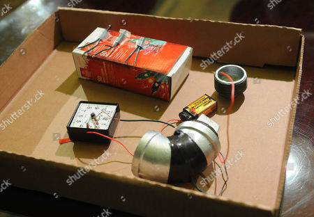 Stock Picture of A mock-up of a pipe bomb is displayed during a news conference at City Hall called by Mayor Michael Bloomberg, in New York. The mock-up represents what authorities believe a homemade bomb would've looked like if its construction had been completed. Bloomberg announced that 27-year-old Jose Pimentel, of Manhattan, a U.S. citizen originally from the Dominican Republic, was arrested Saturday for allegedly plotting to bomb police and post offices in New York City as well as U.S. troops returning home