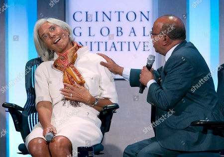 Mo Ibrahim, Christine Lagarde. Christine Lagarde, left, the managing director of the International Monetary Fund, reacts as Mo Ibrahim, founder of the Mo Ibrahim Foundation, suggests that the next IMF director not be French, at the Clinton Global Initiative, in New York