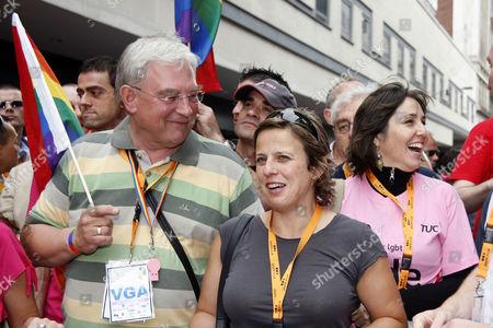 Stock Image of Richard Barnes, deputy mayor of London, Mariela Castro and Rhona Cameron