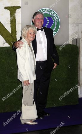 Former Wimbledon referee Alan Mills and wife