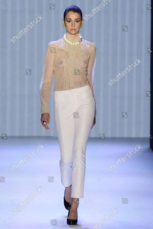 Stock Photo of Model on the catwalk