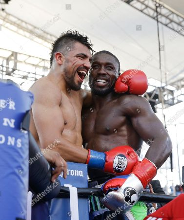 Andre Berto, Victor Ortiz. Andre Berto, right, is congratulated by Victor Ortiz after their welterweight boxing match, in Carson, Calif. Berto won by knockout in the fourth round