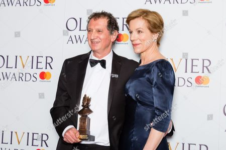 David Lan accepts the Special Award, presented by Juliet Stevenson