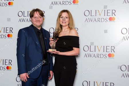 Gary Owen and Rachel O'Riordan accept the award for Outstanding Achievement in an Affiliate Theatre