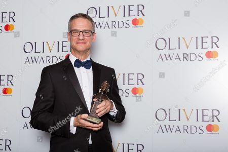 Nevin Steinberg accepts the award for Best Sound Design