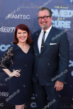 Stock Photo of Kate Flannery and Chris Haston
