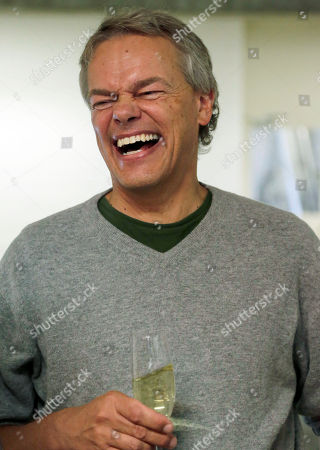 Winner of the 2014 Nobel Prize for Medicine Edvard Moser of Norway laughs after a news conference in Munich, southern Germany, . He won the Nobel Prize alongside his wife May-Britt Moser and professor John O'Keefe of the University College London