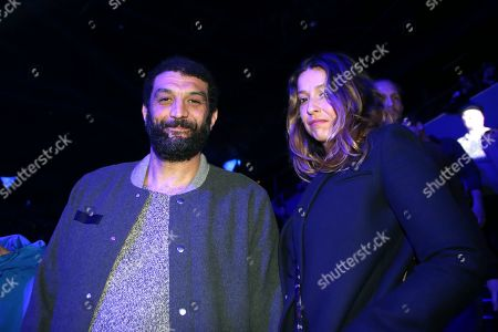 French actor Ramzy Bedia (L)