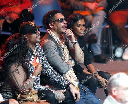 """French singer Joeystarr attends the Boxing event, La Conquete Tony Yoka round 4, heavyweight boxing bout between france's Tony Yoka and his counterpart Cyril Leonet at the """"Palais des Sports"""" in Paris, FRANCE - 07/04/2018.//JEE_people.20/Credit:J.E.E/SIPA/1804081552"""