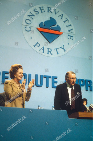 MARGARET THATCHER AND FRANCIS PYM