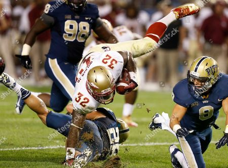 James Wilder, Anthony Gonzalez, Todd Thomas. Florida State running back James Wilder (32) tumbles over Pittsburgh linebacker Anthony Gonzalez (28) as linebacker Todd Thomas (8) pursues in the second quarter of the NCAA college football game, in Pittsburgh