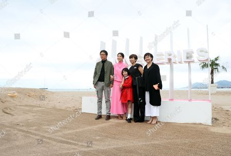 (L-R) South Korean director Kim Cheol-Kyu, South Korean actresses Lee Bo Young, Heo Yool, South Korean screenwriter Jeong Seo-Gyeong and South Korean actress Park Jee Young pose during the photocall for the TV series 'Mother' at the 1st Cannes Series Festival, in Cannes, 09 April 2018. The event will take place from 04 to 11 April.