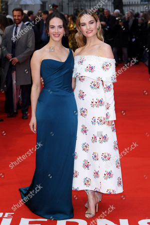 Jessica Brown-Findlay and Lily James