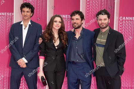 Davide Marengo, Francesco Montanari, Miriam Dalmazio and Stefano Lodovichi from the series 'Cacciatore'