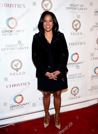 Michelle Ebanks attends The Opportunity Network's 11th Annual Night of Opportunity Gala at Cipriani Wall Street, in New York
