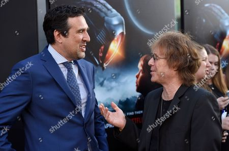 "Zack Estrin, Bill Mumy. Zack Estrin, left, and Bill Mumy speak as they arrive at the Los Angeles premiere of ""Lost in Space"" at the ArcLight Cinerama Dome on"