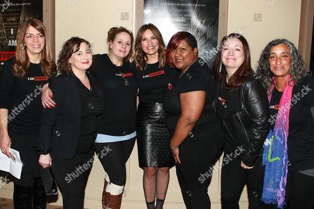 Nancy Abraham, Danielle, Helena (Film Subjects), Mariska Hargitay, Ericka (Film Subject), Trish Adlesic and Geeta Gandbhir