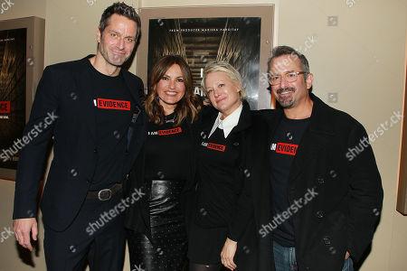 Mariska Hargitay, Peter Hermann, Nancy Jarecki and Andrew Jarecki