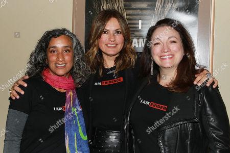 Geeta Gandbhir, Mariska Hargitay and Trish Adlesic