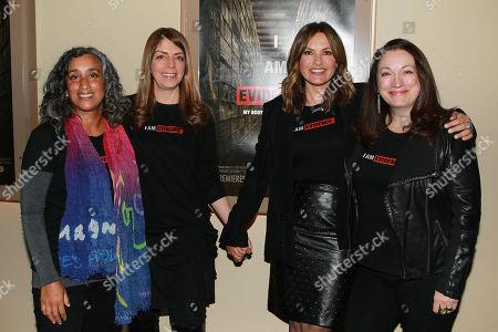 Geeta Gandbhir, Nancy Abraham, Mariska Hargitay and Trish Adlesic