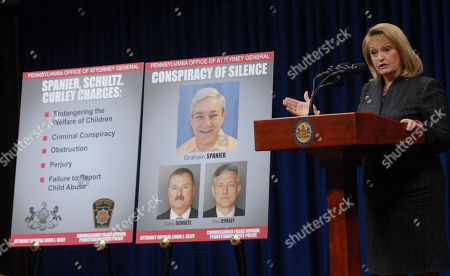 Editorial picture of Penn State Abuse, HARRISBURG, USA - 1 Nov 2012
