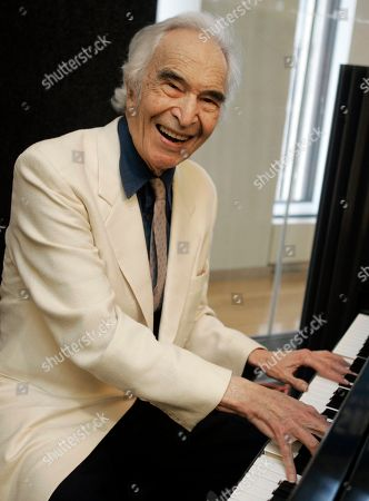 Jazz legend Dave Brubeck rehearses at Sirius Satellite Radio studios in New York, . He will receive the Lifetime Achievement Award during the BBC 2007 Jazz Awards in London today as he participates via satellite from Sirius
