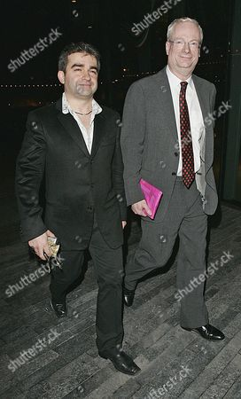 Chris Smith (now Baron Smith Of Finsbury) And His Partner Dorian Jabri Pictured Ariving At A Party Held At City Hall London Se1 To Celebrate The Twentieth Anniversary Of Labour Mp Smith Coming Out. Lord Smith