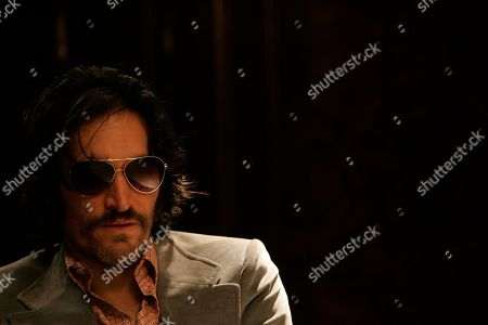 """U.S. actor Vincent Gallo looks on during a press conference in Buenos Aires, . Gallo is in Argentina to take part in the Francis Ford Coppola's new film, """"Tetro"""