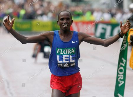 Kenya's Martin Lel wins the 2008 London marathon . Lel won the London Marathon for the third time in four years Sunday, outsprinting Sammy Wanjiru to win in a personal-best time of 2 hours, 5 minutes, 15 seconds
