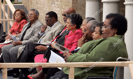 Thelma Mothershed Wair, Minnijean Brown Trickey, Jefferson Thomas, Terrence Roberts, Carlotta Wallls LaNier, Gloria Ray Karlmark, Ernest Green, Elizabeth Eckford, Melba Patillo Beals. Nine students who in 1957 integrated Little Rock Central High School, from left, Thelma Mothershed Wair, Minnijean Brown Trickey, Jefferson Thomas, Terrence Roberts, Carlotta Wallls LaNier, Gloria Ray Karlmark, Ernest Green, Elizabeth Eckford, and Melba Pattillo Beals attend the 50th anniversary commemoration of the event at the school in Little Rock, Ark