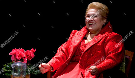 """Stock Image of Mezzo-Soprano Marilyn Horne smiles during the """"Met Legends"""" tribute to her, in New York. This tribute to Ms. Horne is the first in a continuing series hosted by the Metropolitan Opera Guild"""