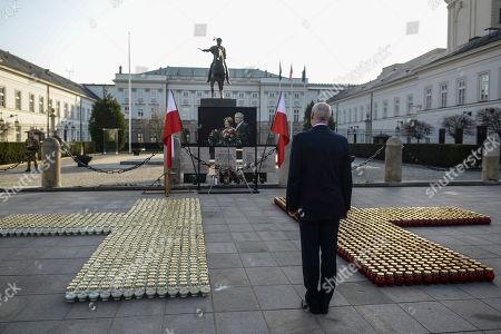 Editorial photo of Memorial events on anniversary of presidential plane crash near Smolensk, Warsaw, Poland - 10 Apr 2018