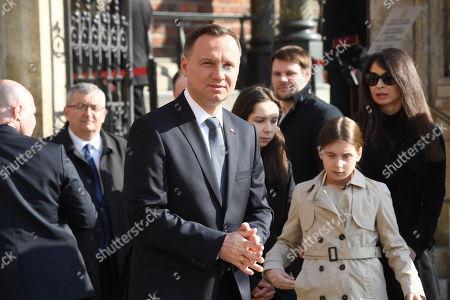 Stock Photo of Andrzej Duda and Marta Kaczynska