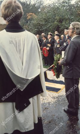 Ep 364 Thursday 16th June 1977 British Legion War Memorial service - With Amos Brearly, as played by Ronald Magill ; Sam Pearson, as played by Toke Townley ; Rev Hockley, as played by Jonathan Newth.