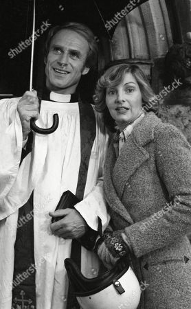 Rev Hockley, as played by Jonathan Newth ; and Dolly Acaster, as played by Katharine Barker