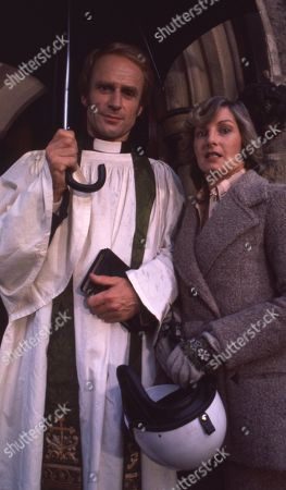 Stock Image of Rev Hockley, as played by Jonathan Newth ; and Dolly Acaster, as played by Katharine Barker