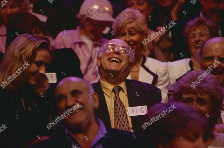 Clive Swift in audience, with Warren Mitchell in f/g