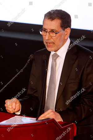 Morocco's Prime Minister Saad-Eddine El Othmani delivers a speech as political parties from across the spectrum met in Laayoune, Western Sahara's largest city, to condemn the latest actions of the Polisario Front, a movement seeking independence for mineral-rich Western Sahara, . Morocco annexed Western Sahara, a former Spanish colony, in 1975 and fought the Polisario Front